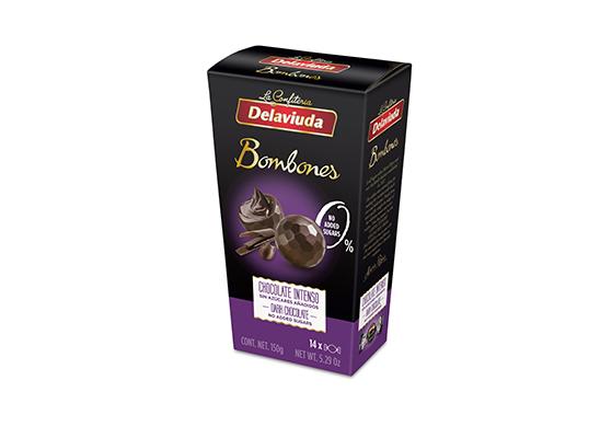 Delaviuda - Bombones Chocolate Intenso sin azúcar