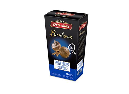 Delaviuda - Bombones Chocolate con Leche sin azúcar