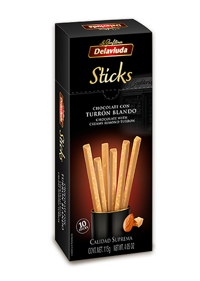 Delaviuda - Sticks Chocolate con Turrón Blando